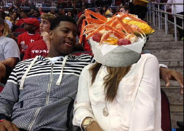 crab ncaaf] fsu's famous jameis cited by police for stealing crab legs,Crab Legs Meme