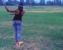 [VIDEO] Cheyenne Woods, Tiger's Niece, Recreates His Famous Ball Juggling NikeCommercial.