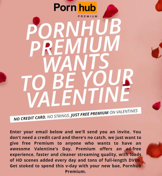 free pornhub premium valentines day